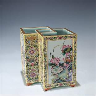 A Chinese Porcelain Brush Pot