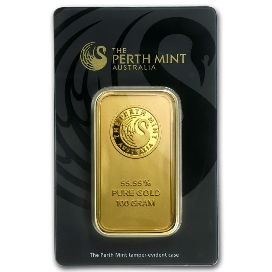 100 gram Gold Bar - Perth Mint
