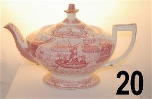 Colonial Times by Crown Derby, England, Red/White T