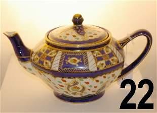 "Royal Winton Ivoryware teapot, measures 5 1/2"" noti"