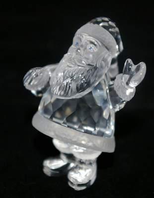 Swarovski Silver Crystal Santa