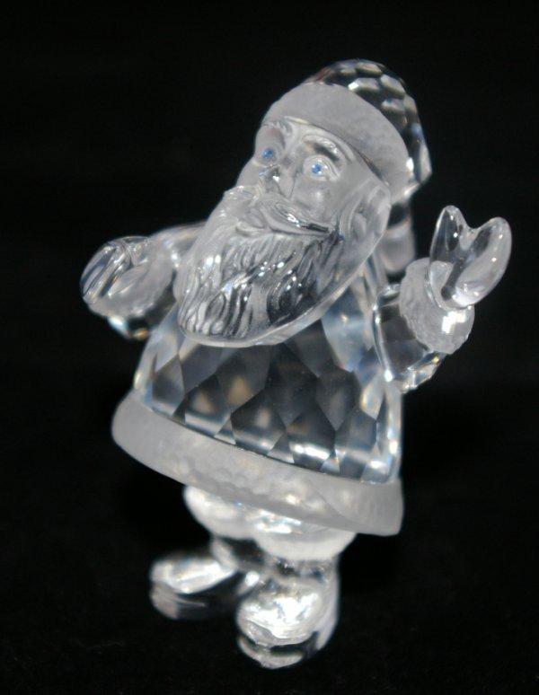 8: Swarovski Silver Crystal Santa
