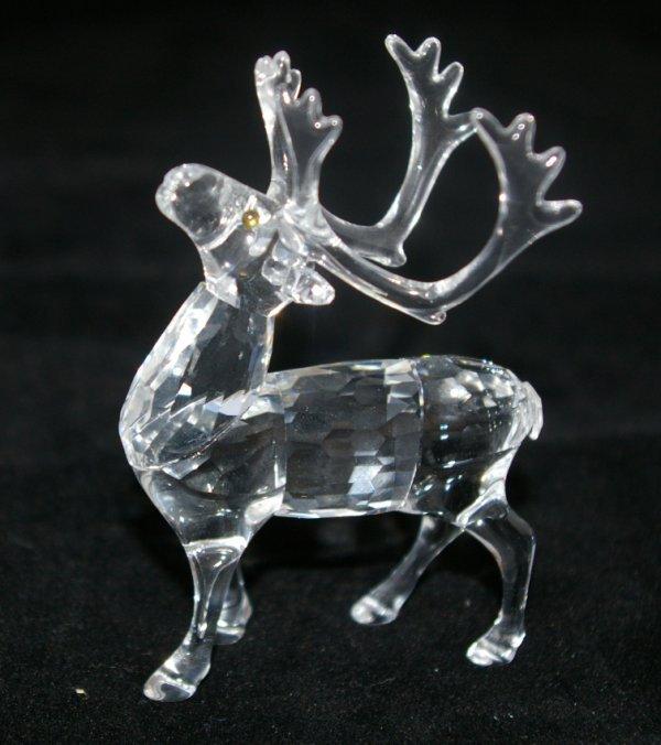 9: Swarovski Silver Crystal Reindeer