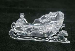 Swarovski Silver Crystal Sleigh
