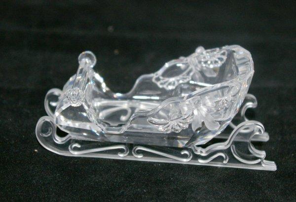 10: Swarovski Silver Crystal Sleigh