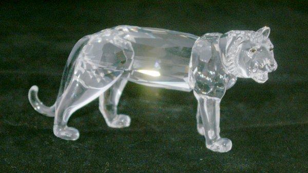 18: Swarovski Silver Crystal Lion