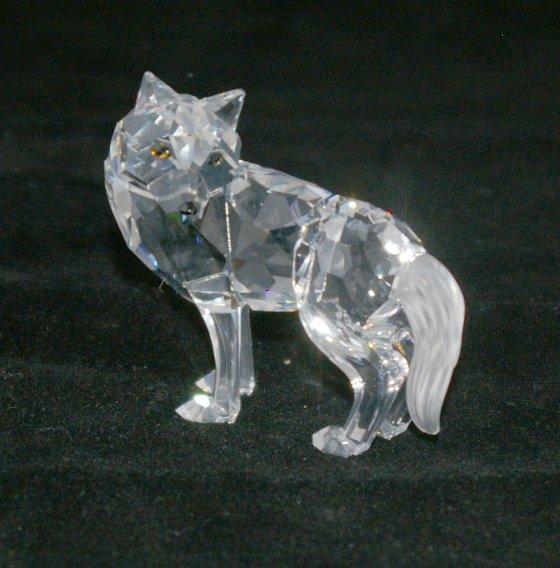 21: Swarovski Silver Crystal Fox