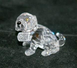 Swarovski Silver Crystal Puppy