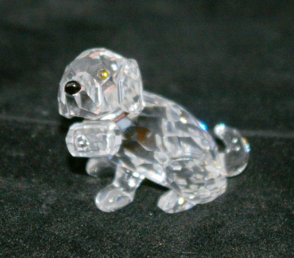 22: Swarovski Silver Crystal Puppy
