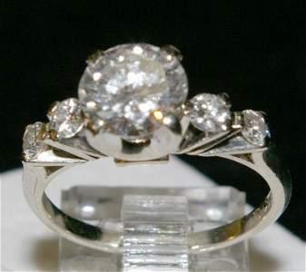 148: Diamond Engagement Ring set with centre stone esti