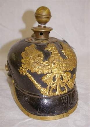 WWI German Helmet, withbrass accents *noting leat