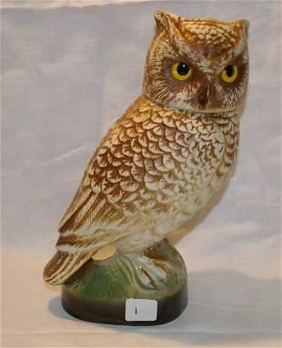 "James Bean, Owl Decanter, measures 10"""