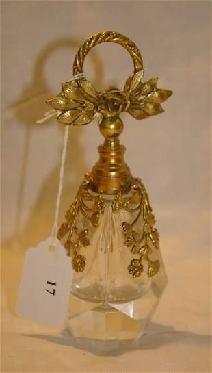 """Perfume bottle with ormolu, measures 6"""""""
