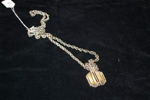15 in. Sterling rope chain with sterling pendant