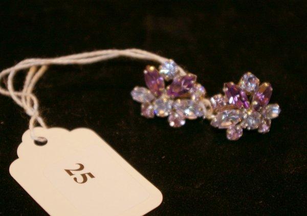 1025: Pair of Sherman earrings