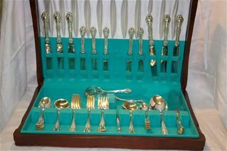 1073: Birks sterling flatware set 41 pieces