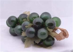"""Glass balls depicting grapes, measures 12"""" l."""