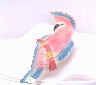 """Parrot plaque, measures 14"""" l."""