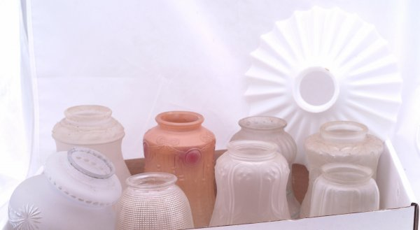 12: Collection of 9 various lamp shades