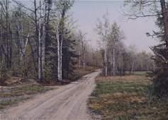 "1463: Oil painting by J. Harris - ""Fairhome Lake - Perr"