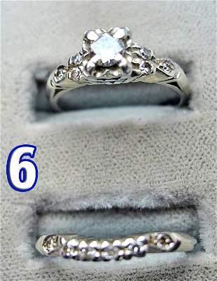 2 Ladies 18 k Gold Diamond Rings