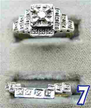 2 Ladies 14 k Gold Diamond Rings