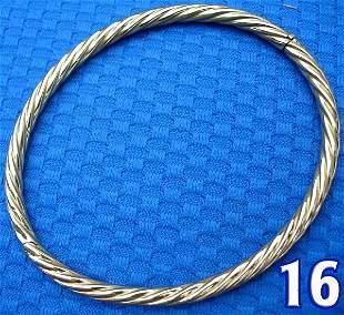 18 kt. Yellow Gold Bangle Bracelet