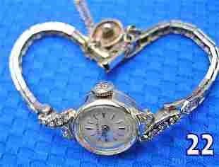 14 k White Gold Ladies Birks Wrist Watch