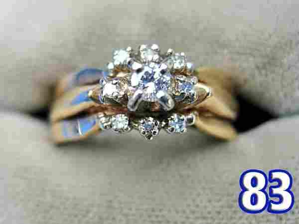Ladies 14 k Gold Diamond Ring