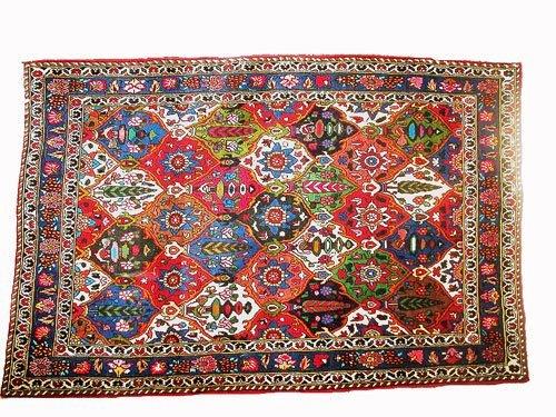 "1005:  Bakhtiar Persian Rug  5'4"" x 3'5""  Fully color g"
