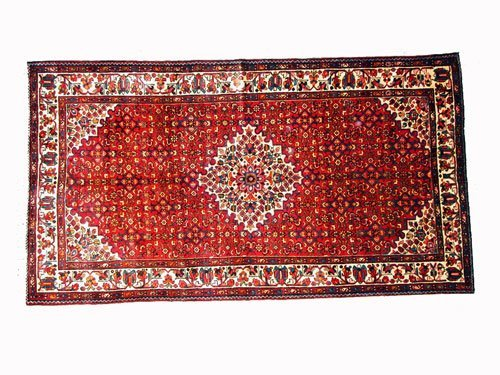 "1012: Hosseinabad Persian Rug  10'1"" x 5'6""  Brownish r"