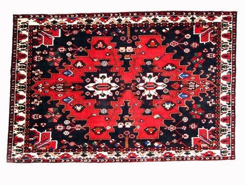 "1016: Ghahverokh Persian Rug  10'3"" x 6'11""  Black grou"