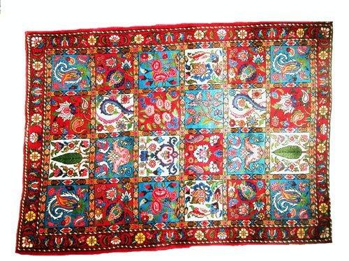 "1018: Bakhtiar Persian Rug  4'10"" x 3'6""Fully color gro"
