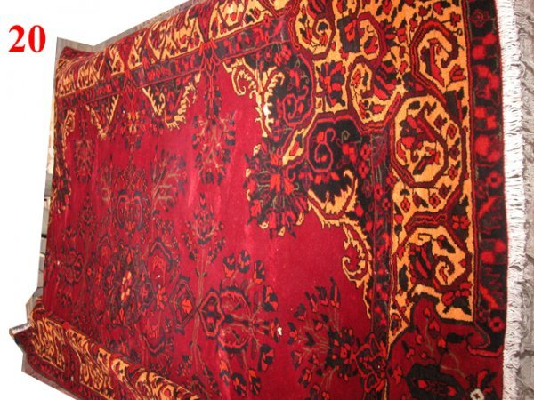 "1020: Seghale Persian Rug  11'6"" x 8'1""  Rich burgundy"