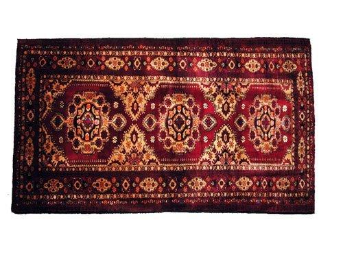 "1021: Torbat Persian Rug  6'3"" x 3'7""  Burgundy ground"