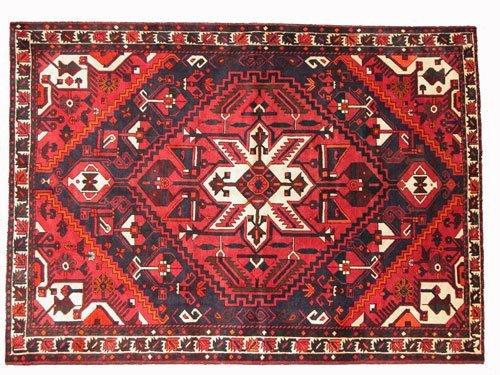 "1022: Bakhtiar Persian Rug  10'3"" x 7'5""  Black ground"