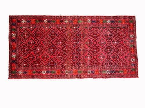 "1023: Ghoochan Persian Rug  9'10"" x 4'10""  Samoan color"