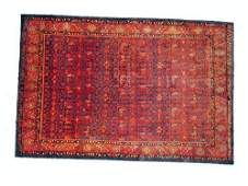 """1094: Mishan Persian Rug  10'6"""" 7'0"""" Navy ground with a"""