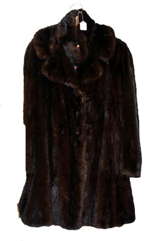 2116: Mink Car Length Coat from Canada Majestic Mink wi