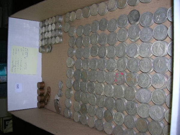 2232: Canadian 25 cent and 10 cent Coins, from 1930's t