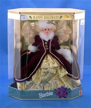 MATTEL HAPPY HOLIDAYS BARBIE 1996 * BOX DAMAGED