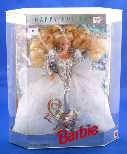 8: MATTEL HAPPY HOLIDAYS SPECIAL DOLL STAND INCLUDED