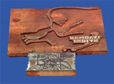 76: SEVERAL COPPER PRINTING PLATES WITH MAPS