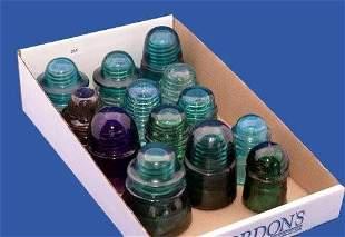 Twenty-Five Glass Insulators