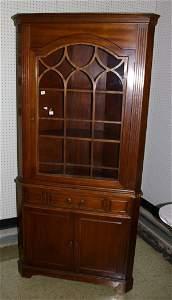 304: Mahogany Corner Cupboard