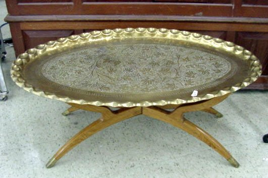 1A: Brass Side Table