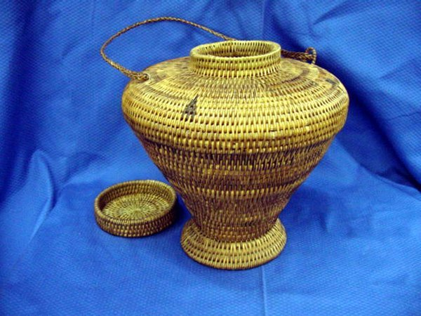 3: Wicker Rice Storage Container