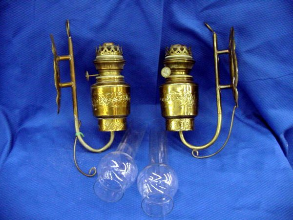 4: Brass Wall Sconces