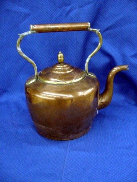 8: English Copper & Brass Kettle