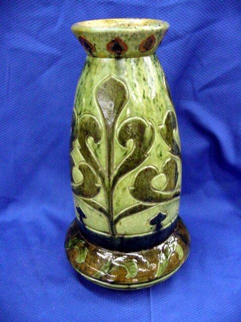 10: Slip Glazed Pottery Vase